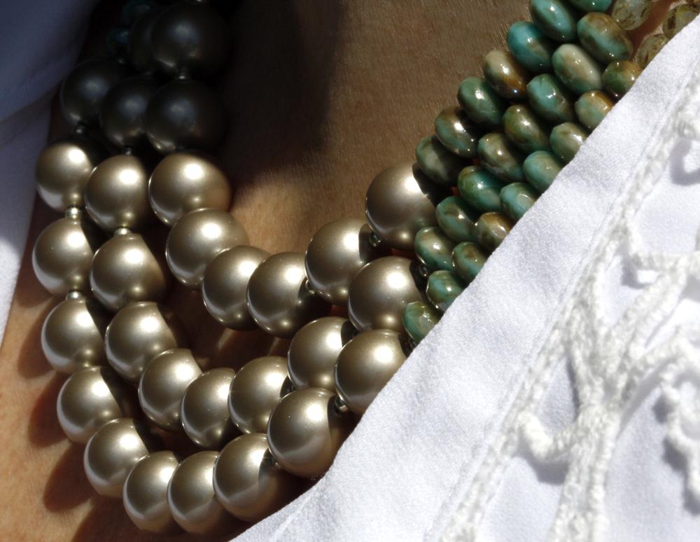 eureka crystal beads pearl kits diy jewelry necklace