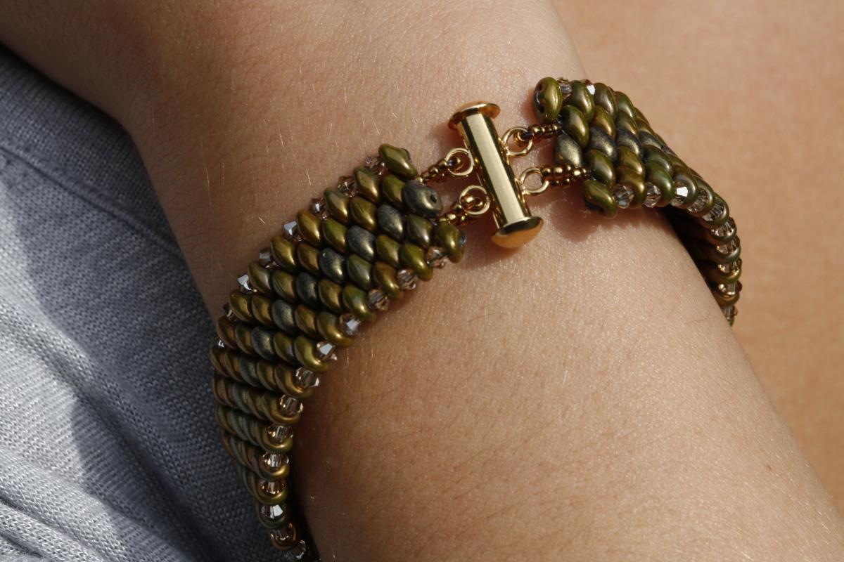 Snake Skin SuperDuo Bracelet