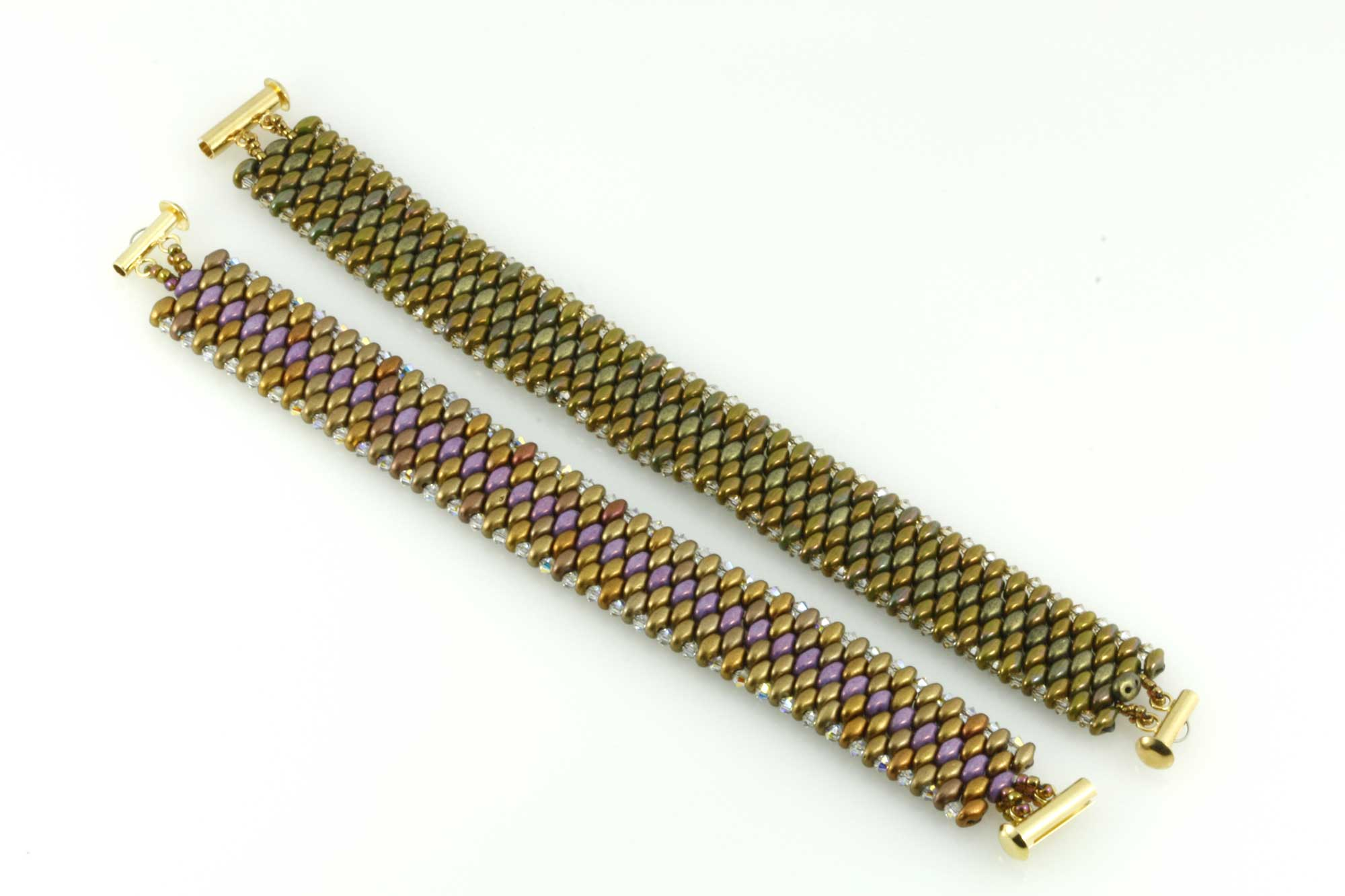 Snake skin superduo bracelet eureka crystal beads blog snake skin bracelet made of 25 mm swarovski bicones and superduos czechmates baditri Choice Image