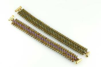 Snake Skin Bracelet made of 2.5 mm Swarovski Bicones and SuperDuos CzechMates