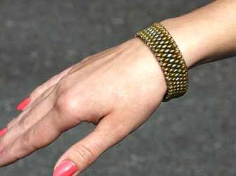 Beaded Snake Skin SuperDuo Bracelet Step by Step Tutorial!