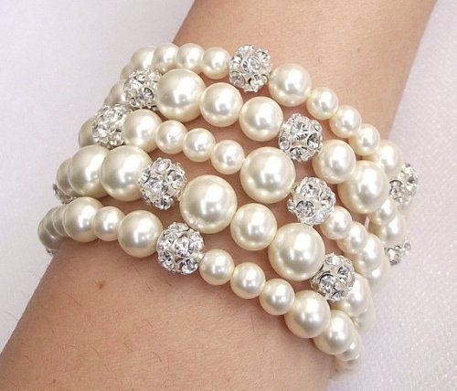 crystal and pearls bracelet