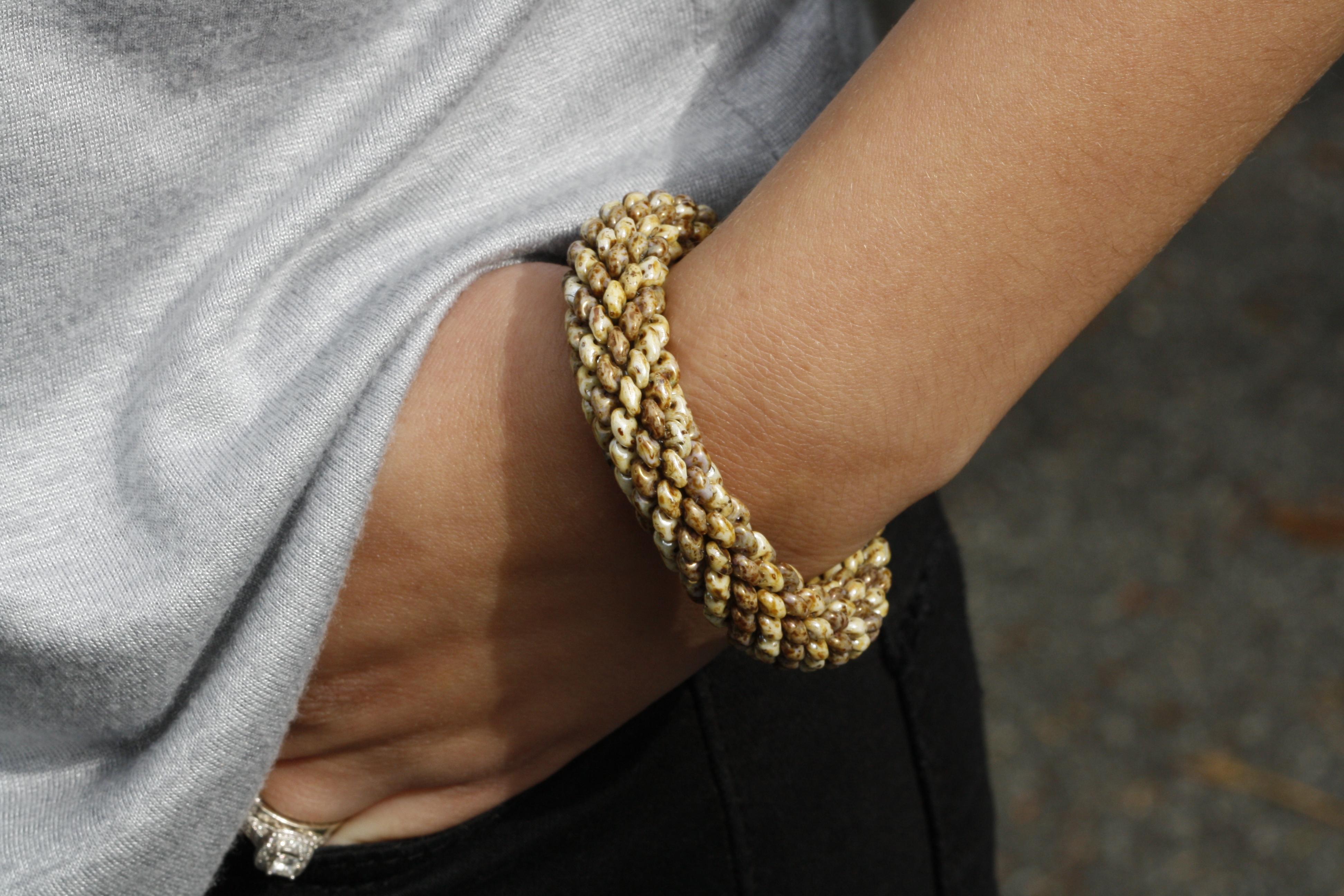 Free Superduo Spiral Bracelet Tutorial Eureka Crystal