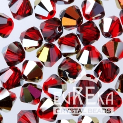swarovski crystal bicone custon coating light siam volcano pantone marsala jewelry