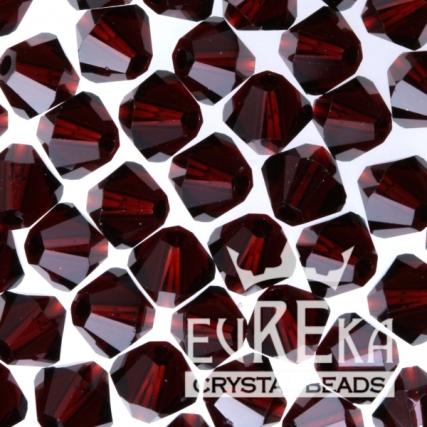 swarovski crystal garnet bicone pantone marsala jewelry