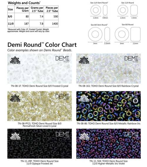Demi-Beads-weight-chart