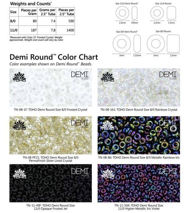 Demi-Beads-weight-chart