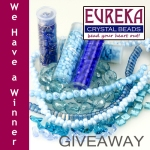 blue czech beads giveaway