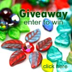 czech leaves beads giveaway