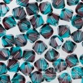 Burgundy Blue Zircon Swarovski Crystal Bicones