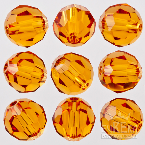Swarovski Crystal Round Topaz Beads