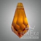 Swarovski Crystal Drop Pendants in Topaz